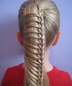 Chinese Ladder Braid by Erin Balogh. Here is a little video about how to do the Chinese Ladder Braid -- also called the . A couple tips: the Pretty Hairstyles, Girl Hairstyles, Wedding Hairstyles, Easy Hairstyles, Sporty Hairstyles, Toddler Hairstyles, Long Haircuts, Braided Hairstyles Tutorials, School Hairstyles