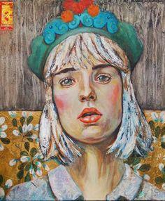 the blue crown- mixed media art on canvas- 70x60cm- Leo-Vinh- 2015