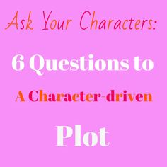 Are your characters driving your plot? Answer these questions to find out! 6 questions to a character-driven plot. Writing Lessons, Writing Advice, Writing Resources, Writing Help, Writing Skills, Writing A Book, Writing Prompts, Writing Ideas, Story Prompts