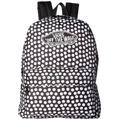 Vans Realm Backpack (Oversize Dots) Backpack Bags ($38) ❤ liked on Polyvore featuring bags, backpacks, handle bag, backpack bags, rucksack bags, vans rucksack and strap bag
