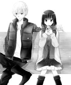 Last Game Manga - Kujou & Yanagi Romantic Anime Couples, Cute Anime Couples, Old Anime, Manga Anime, Last Game Manga, Manga Cute, Manga List, Manga Covers, Anime Sketch