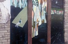Kate Timney | Mural for the Merchant City Festival '15 at Tontine Lane