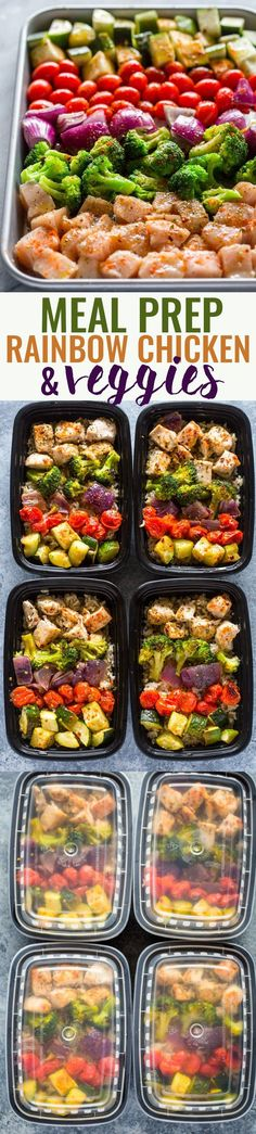 Meal Prep - Healthy Chicken and Veggies (this would be a nice lunch). Use brown rice to keep this healthy meal prep idea clean eating friendly. Pin now to make this healthy chicken recipe during meal prep later. Healthy Meal Prep, Healthy Cooking, Healthy Snacks, Healthy Eating, Being Healthy, High Protein Meal Prep, Dinner Healthy, Paleo Dinner, Keto Meal