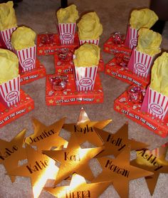 Chi chapter - Nametags and goodie boxes for Pajamas/Devo night during Recruitment