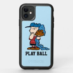 Peanuts | Linus In His Baseball Gear OtterBox Symmetry iPhone 11 Case #shirts #food #drink baseball players, baseball pictures, baseball art, back to school, aesthetic wallpaper, y2k fashion