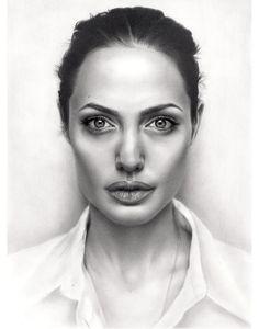 portrait drawing angelina jolie sikoian http://webneel.com/30-realistic-pencil-drawings-and-drawing-tips-beginners | Design Inspiration http://webneel.com | Follow us www.pinterest.com/webneel
