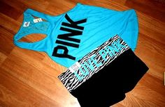Pink Yoga shorts and tank Pink Outfits, Summer Outfits, Cute Outfits, Swag Outfits, Workout Attire, Swagg, Victoria Secret Pink, Victoria Secrets, Passion For Fashion