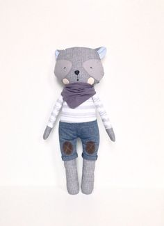 Ben Wolf Fabric Doll 47cm by BulaLula on Etsy