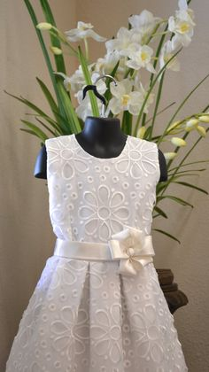 Couture First Communion Dress ~ Flower Girl Dress ~ www.CouturesbyLaura.Etsy.com