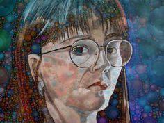 Auto-portrait by Michelle LaRiviere #ipadart #percolatorapp #digitalart #photobasedart