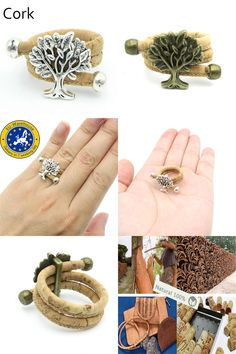 [Visit to Buy] MB Cork Portuguese cork life of tree cork women Ring soft original, adjustable  handmade R-009 #Advertisement