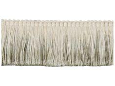 Groundworks TL10124-106 by Kelly Wearstler Linen-Fringe-Brush / Moss