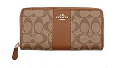 Signature PVC Leather Accordion Zip Wallet 54630 Khaki Saddle * This is an Amazon Associate's Pin. Check out the image by visiting this Amazon Affiliate link.