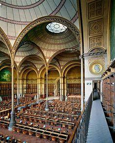 Salle Labrouste, Bibliothèque Nationale de France, Paris, France.