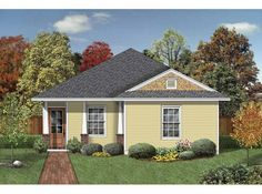 Eplans Prairie House Plan - Four Bedroom Prairie - 1430 Square Feet and 4 Bedrooms(s) from Eplans - House Plan Code HWEPL65708