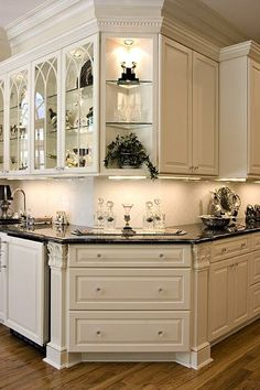 Luxury And Elegant Kitchen Design Inspiration design Luxury and Elegant Kitchen Design Inspiration - Onechitecture Kitchen Redo, New Kitchen, Kitchen Remodel, Kitchen Corner, Kitchen Ideas, Corner Bar, Kitchen Unit, Corner Storage, Kitchen Layout