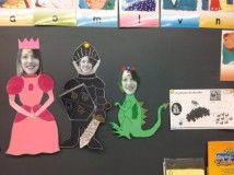 Princesse, chevalier et dragon