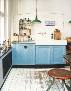 DIY IDEA! Paint your kitchen cabinets for an affordable and fun color update. Get more color decor ideas in this NEW INTERIORS BOOK: http://www.amazon.com/Bright-Bazaar-Embracing-Color-Make-You-Smile/dp/1250042011/