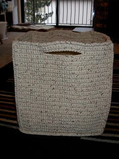 larger version square crochet basket This takes 11 balls of cotton thread. Start using coupons to collect thread at half price.