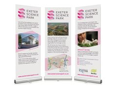 Pop up banners - a cost effective way to have a presence at a conference.