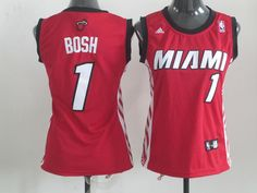 Miami Heat 1# Bosh Red Women jersey