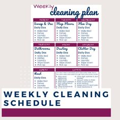 11 simple and quick cleaning tips for busy people who have no time to clean. Fast cleaning when you are in a rush. Weekly Cleaning Plan, Household Cleaning Schedule, Spring Cleaning Checklist, Speed Cleaning, House Cleaning Tips, Cleaning Hacks, Cleaning Lists, Cleaning Schedules, Daily Cleaning