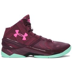 Under Armour Men's UA Curry Two Basketball Shoes ($130) ❤ liked on Polyvore featuring men's fashion, men's shoes and dark maroon