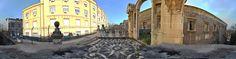 Ponte dei Benedettini realizzato dal Battaglia per pareggiare i livelli delle lave del 1669 con il secondo piano del grandioso convento dei Benedettini.Il Ponte, insieme al plesso monastico, è riconosciuto Patrimonio dell'Umanità dall'UNESCO.