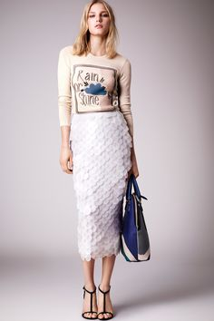 Burberry pre-spring/summer 2015 fashion collection
