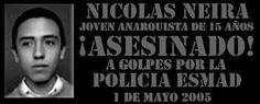 Colombia: Acción global 6 de mayo, a 10 años de la muerte de Nicolás David Neira Álvarez
