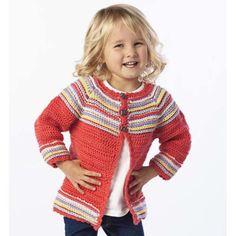 'cutie bug cardi' to crochet Crochet Girls, Crochet Baby Clothes, Cute Crochet, Crochet For Kids, Knit Crochet, Crochet Sweaters, Crochet Children, Knitting For Kids, Baby Knitting