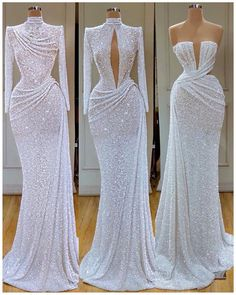 1 2 Which one is your fav look? Gala Dresses, Event Dresses, Pageant Dresses, Bridal Dresses, Evening Outfits, Evening Gowns, Beautiful Gowns, Dream Dress, Pretty Dresses