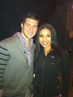 Tim at Super Bowl Week in Indy with Jordan Sparks who will sing the National Anthem at the game.