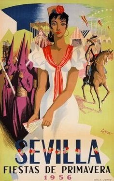 Cartel de Las Fiestas de Primavera de Sevilla 1956
