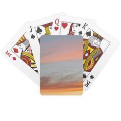 Nature Pastel Evening Sunset Sky Playing Cards