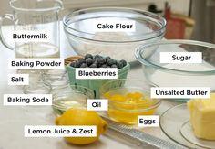 Lemon blueberry buttermilk cake + lemon cream cheese frosting | Sugar Geek Show Lemon Cream Cheese Frosting, Cake With Cream Cheese, Pudding Desserts, Dessert Recipes, Cake Pan Sizes, Tall Cakes, Blueberry Cake, Pound Cake Recipes, Cake Decorating Tips