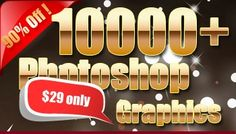 10000 Photoshop Graphics Elements