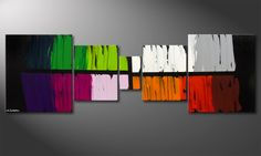 Le tableau mural Colorful Lights 210x70cm - Tableaux-XXL