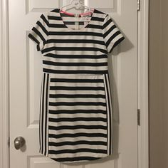 Alice Blue Brielle dress Designed exclusively for stitch fix new with tags size large white and black stripe Alice Blue Dresses Midi