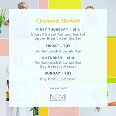 Hey hey! So things have been crazy at Nomi Handmade of late - we did our first trade show at @kamersvol launched wholesale and got a team of traders. Whoop! But we're back and we're hitting the ground running...  Pop into a market and show one of our newbies some love and a warm welcome!    #nomihandmade  #shweshwe  #shweshwefabric  #africanprintlovers  #shweshwejewelry  #blackbusinesswomen  #localislekker  #proudlysouthafrican  #findmeonetsy  #afroprints  #shweshwejewellery  #capetown…