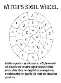 wicca-wicca-ahh: third-eyed-indigo: Easy do it yourself sigil. siglmumbles sigil wheel witch resources witchblr witchcraft magic sigils sigil maker new witch witchling Sigil Magic, Magic Symbols, Witch Symbols, Magick Spells, Wiccan Witch, Green Witchcraft, Witch Spell, Witch Broom, Baby Witch