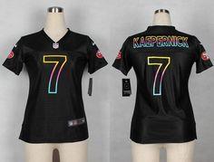Nike  49ers  7 Colin  Kaepernick Black Women s  NFL Fashion Game  Jersey. SF  49ers Jersey f08b26d99