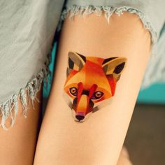 """""""Hello! Here is new fox collection of temporary tattoos. Worldwide delivery @madebytattooyou Tag a friend who likes foxes ❤️ #temporarytattoo…"""""""