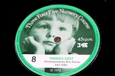 45 r.p.m  Number 8 Play in the Rain & Things Lost Three Four Five Nursery Course Record series