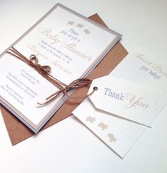 Sweet Dreams Rustic Baby Shower Invitations by FoxOnTheMoonLLC