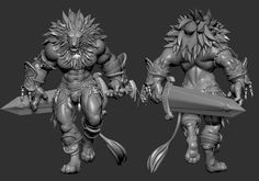 Lion Fighter by NBQuaternion 3d Model Character, Character Creation, Character Art, Character Design, Character Inspiration, Furry Wolf, Furry Art, Zbrush, Imprimente 3d