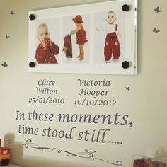 Personalised In These Moments,Time Stood Still Wall Quotes Stickers Wall Decals