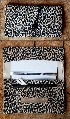 Handmade leather tobacco pouch .... leopard printed ..... Romba's leather sandals, bags, tobacco pouches, lighters cases, notebooks and more