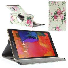 Mesh - Samsung Galaxy Tab S 8.4 - Rotatie Cover Hoes Rozen Licht Groen   Shop4Hoesjes.nl