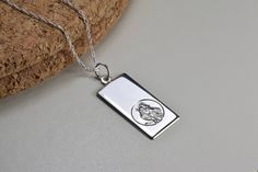 Items similar to Sterling Silver, 20 mm St. Christopher ingot necklace, everyday wear, on Etsy St Christopher Necklace, Saint Christopher, Serenity Prayer, Handmade Items, Handmade Gifts, Cross Pendant, Dog Tag Necklace, Pendants, Pendant Necklace